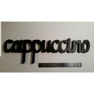 Other - Cappuccino Wall Hanging Scroll Sign Coffee Black
